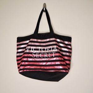 Victoria's Secret Foiled Striped weekender Tote